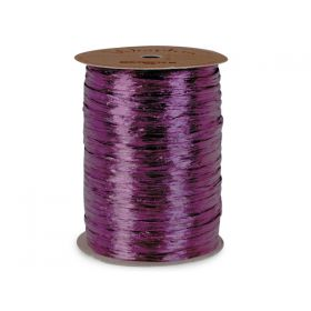 91.4M BERWICK Shiny pearlised Raffia ribbon - Grape (purple)