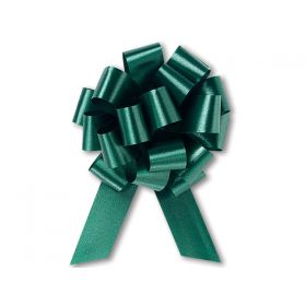22mm embossed pull bow (Pack of 10) - Green