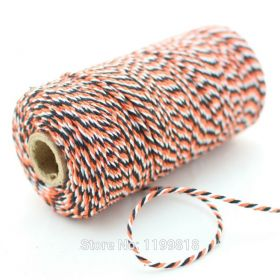 JEMPAK UK® 91.4M x 2mm thick 100% cotton bakers twine  - Halloween colour
