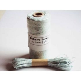 JEMPAK UK 10M x 2mm thick 100% cotton bakers twine  - Aqua