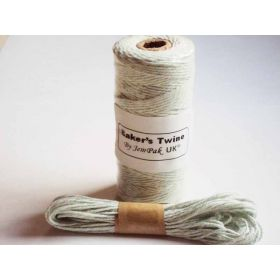 JEMPAK UK 10M x 2mm thick 100% cotton bakers twine  - Mint green