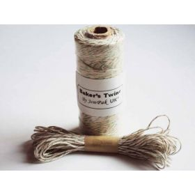 JEMPAK UK 10M x 2mm thick 100% cotton bakers twine  - green shimmer