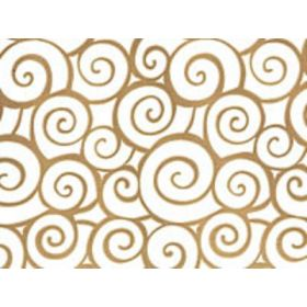 Pack of 10 Swirl gold cellophane bags (13cm x 8cm x 28cm)