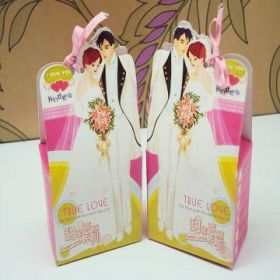 Pack of 10 Funky bride & groom favour box