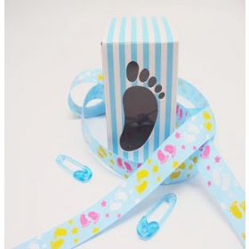 Pack of 10 Blue baby shower favour box