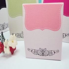 Pack of 10 Pink tapestry favour box