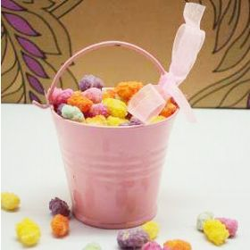 Pack of 10 Pink favour pails