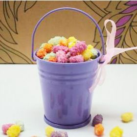 Pack of 10 Purple favour pails