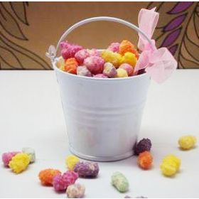 Pack of 10 White favour pails