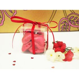 Pack of 10 Clear PVC cube favour box (50mm x 50mm x 50mm)