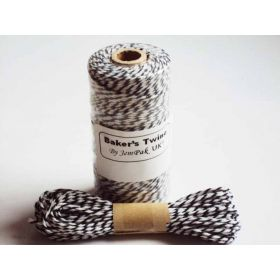 JEMPAK UK 10M x 2mm thick 100% cotton bakers twine  - Black