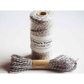 JEMPAK UK 10M x 2mm thick 100% cotton bakers twine  - grey