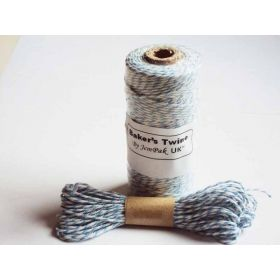 JEMPAK UK 10M x 2mm thick 100% cotton bakers twine  - Light Blue