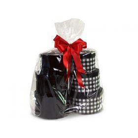 """23"""" x 11"""" x 24"""" Bottom gusseted cellophane basket bags (Pack of 10)"""