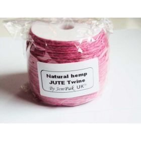91.4M x 2mm thick PINK natural Hemp Jute Twine rope for gift packaging, Scrapbooking & Wedding Decorations