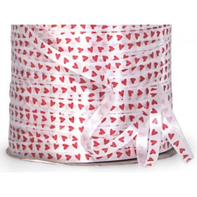 228M x 5mm Red Hearts Valentine's Curling Ribbon