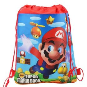 Super Mario - kids drawstring backpack gym/swimming/school bag