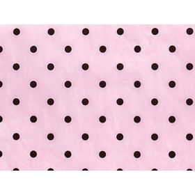 Pack of 6 Black dots on coral recycled issue (51cm x 76cm)