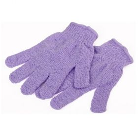JEMPAK UK®1 pair of Purple exfoliating hand gloves - beauty