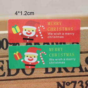 JEMPAK UK® 60 pieces Santa Merry Christmas rectangular sticky labels