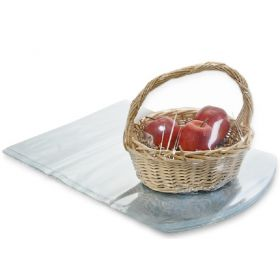 "16"" x 22"" Clear PVC dome heat shrink wrap basket bags (Pack of 10)"