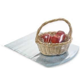 """16"""" x 22"""" Clear PVC dome heat shrink wrap basket bags (Pack of 2)"""