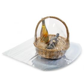 """22"""" x 24"""" Clear PVC dome heat shrink wrap basket bags (Pack of 2)"""
