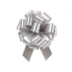 36mm embossed  pull bow (Pack of 10) - Silver