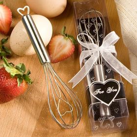 Heart design stainless steel whisk (Pack of 2)