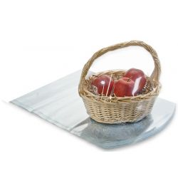 "16"" x 22"" Clear PVC dome heat shrink wrap basket bags (Pack of 2)"