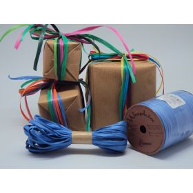 10M CUT Berwick Matte Raffia ribbon - Royal blue