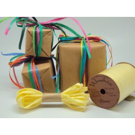 10M CUT Berwick Matte Raffia ribbon - Yellow