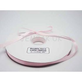 5M x 10mm Double face satin ribbon - baby Pink