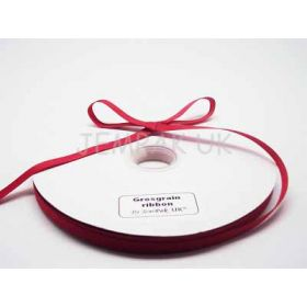 5M x 10mm Grosgrain ribbon - Red