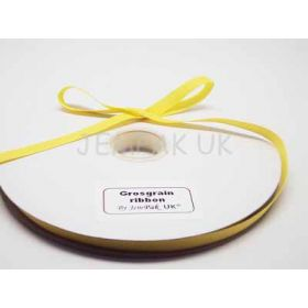 5M x 10mm Grosgrain ribbon - Yellow