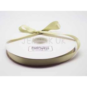 5M x 15mm Double face satin ribbon - Lime green