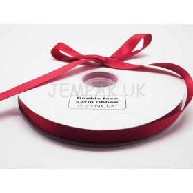 5M x 15mm Double face satin ribbon - Red