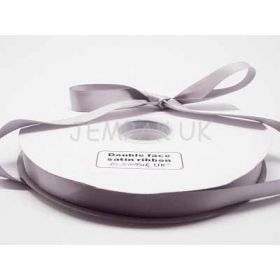 5M x 15mm Double face satin ribbon - Silver