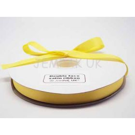 5M x 15mm Double face satin ribbon - Yellow