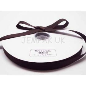 5M x 15mm Grosgrain ribbon - Chocolate brown