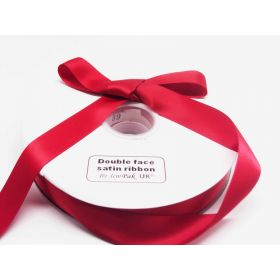 5M x 25mm Double face satin ribbon - Red