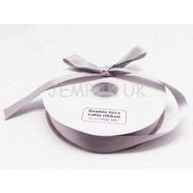 5M x 25mm Double face satin ribbon -Silver