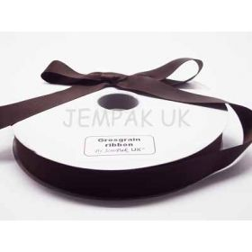 5M x 25mm Grosgrain ribbon - Chocolate Brown