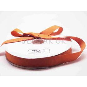 5M x 25mm Grosgrain ribbon - Golden orange