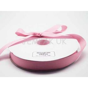 5M x 25mm Grosgrain ribbon- Baby pink