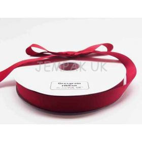 5M x 25mm Grosgrain ribbon - Red