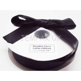 5M x 38mm Double face satin ribbon - Black
