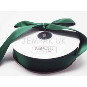 5M x 38mm Double face satin ribbon - Forest green