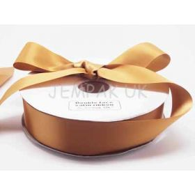 5M x 38mm Double face satin ribbon - Gold