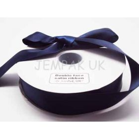 5M x 38mm Double face satin ribbon - Navy Blue